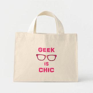 Le geek est chic sac en toile mini
