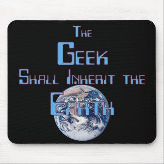 Le geek hérite de la terre Mousepad Tapis De Souris
