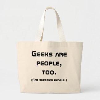 Le geeks est les gens, trop cartable (le noir) sac en toile jumbo