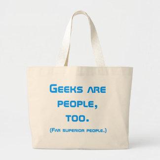 Le geeks est les gens, trop le cartable (bleu) sac en toile jumbo