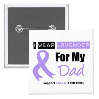 Le Général Cancer I Wear Lavender pour mon papa Badge Avec Épingle