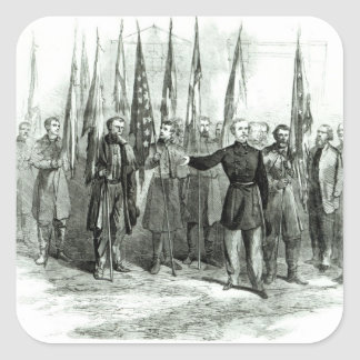 Le Général Custer Autocollants Carrés
