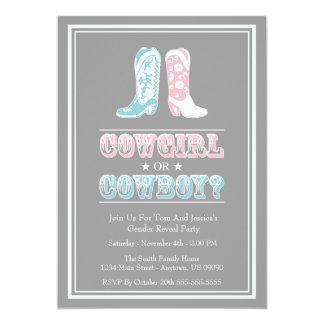 Le genre de bottes de cowboy indiquent des carton d'invitation  12,7 cm x 17,78 cm