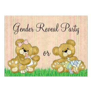 Le genre mignon d'ours indiquent la partie carton d'invitation  13,97 cm x 19,05 cm