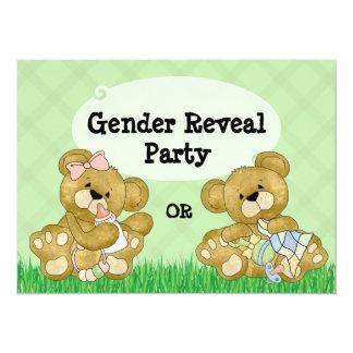 Le genre mignon d'ours indiquent la partie invitation personnalisable