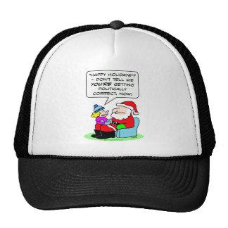 le gentil politiquement père noël correct vilain casquette de camionneur