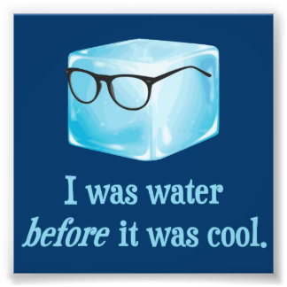 Le glaçon de hippie était l'eau avant qu'il ait photo d'art