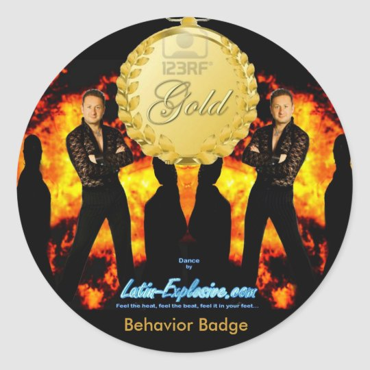 LE Gold Badge Behaviour Sticker