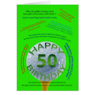 Le golf plaisante carte d'anniversaire pour 50 ans