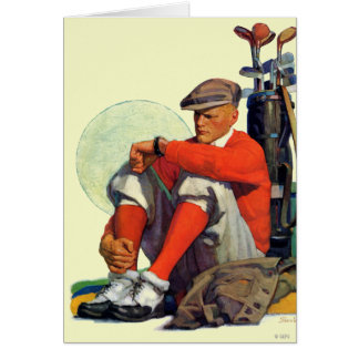 Le golfeur a continué l attente carte de vœux