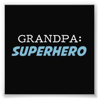 Le grand-papa est un grand-père de super héros tirages photo