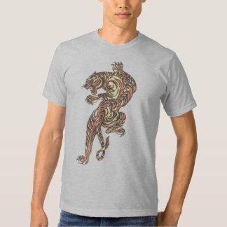 Le gris asiatique de tatouage de tigre a semi tee shirt