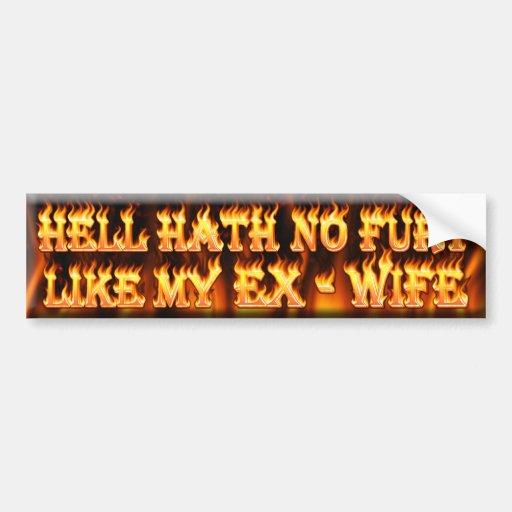 le hath d'enfer aucune fureur aiment mon épouse ex autocollants pour voiture