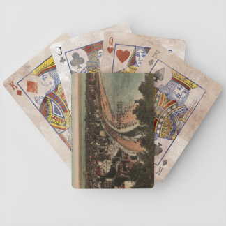 Le Havre Panorama France Postcard 1920s Bicycle Playing Cards