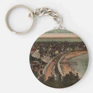Le Havre Panorama France Postcard 1920s Keychain