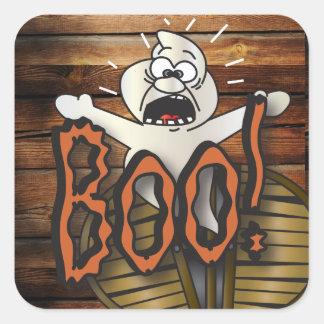 Le hurlement effrayant de fantôme de Halloween Sticker Carré