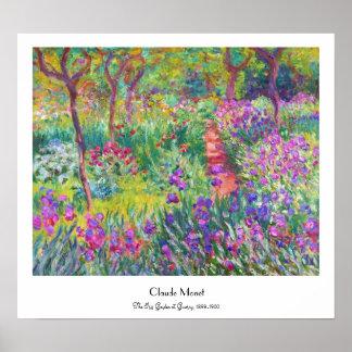 Le jardin d iris au cool de Giverny Claude Monet Posters