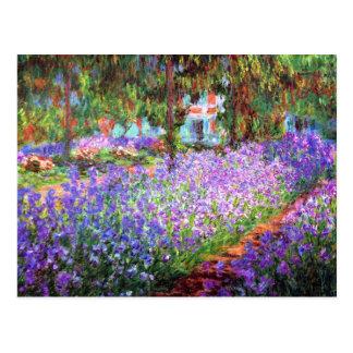 Le jardin de l artiste chez Giverny Claude Monet Carte Postale