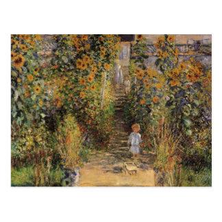Le jardin de l artiste chez Vetheuil par Monet ar Carte Postale