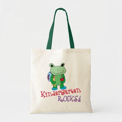 Le jardin d'enfants bascule le cartable sacs en toile