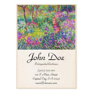 Le jardin d'iris au cool de Giverny Claude Monet,  Cartes De Visite Personnelles