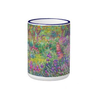 Le jardin d'iris au cool de Giverny Claude Monet,  Tasse