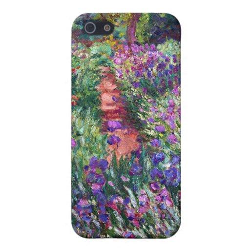 Le jardin d'iris chez Giverny, Claude Monet Étui iPhone 5