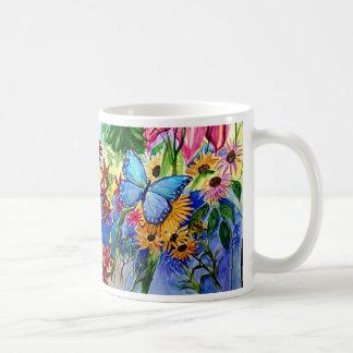 Le jardin du papillon bleu tasse