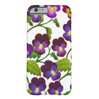 Le jardin pourpre de pensée fleurit la caisse de l coque iPhone 6 barely there