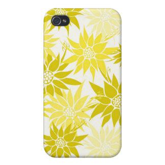 Le jaune fleurit la caisse de l iPhone 4 Coques iPhone 4
