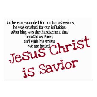 Le Jésus-Christ est sauveur (la région) Carte De Visite Grand Format