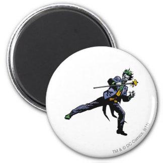 Le joker avec la canne magnet rond 8 cm