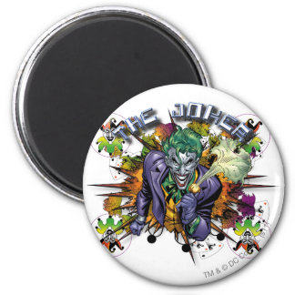 Le joker - explosion magnet rond 8 cm