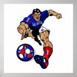 Le joueur de football de Bleus de Les France évent Affiche