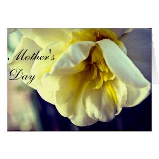 Le jour de la maman de jonquille de narcisse carte de vœux