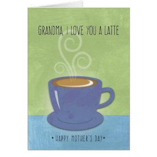 Le jour de mère de grand-maman, je t'aime un carte