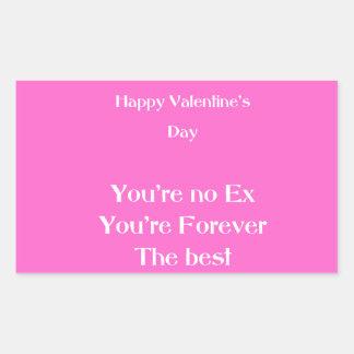 Le jour de valentine ex d'amant sticker rectangulaire