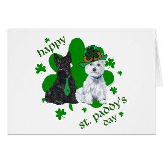 Le jour du paddy de Scottie et de St de Westie Carte De Vœux