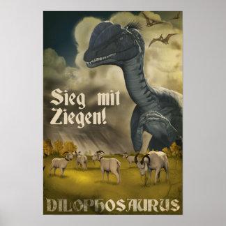 Le jour J de Dino Dilophosaurus Posters