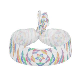 Le kaléidoscope d'arc-en-ciel tient le premier rôl élastique pour cheveux