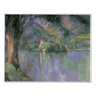 Le lac d Annecy 1896 by Paul Cezanne Poster