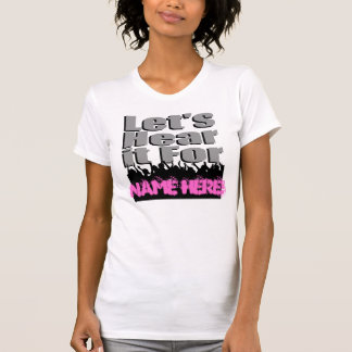 Le laisse ici pour (nom ici) ! - Adulte/femelle Tee Shirts