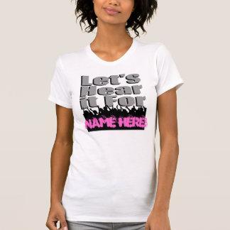 Le laisse ici pour (nom ici) ! - Adulte/femelle T-shirts