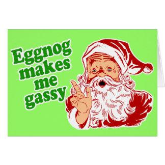 Le lait de poule fait le pet de Père Noël Carte De Vœux