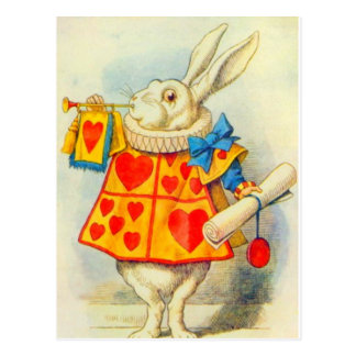 Le lapin blanc polychrome cartes postales