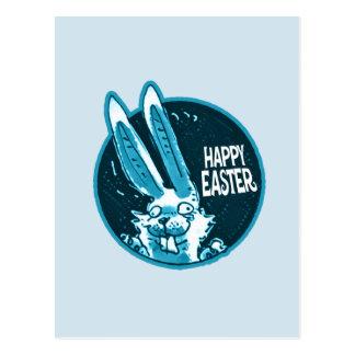 le lapin drôle confus indique la bande dessinée carte postale