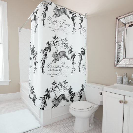 Le Lapin French Hare Shower Curtain