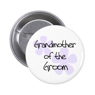 Le lilas fleurit la grand-mère du bouton de marié macaron rond 5 cm