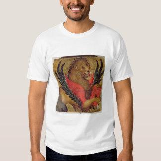 Le lion de St Mark (huile sur le panneau) Tee-shirt