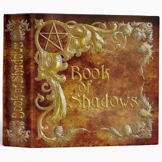 Le livre des ombres avec de l'or accentue #1 classeur 3 anneaux